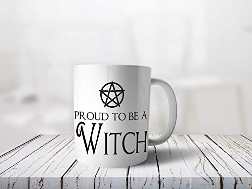 Bedruckte Tasse mit Spruch Proud Witch Hexe