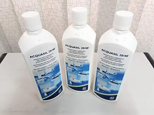 Acquabrevetti liquido ACQUASIL 20 40 in flacone da lt 1 (confezione da 3 flaconi) per pompe dosatrici MiniDos e BravaDos