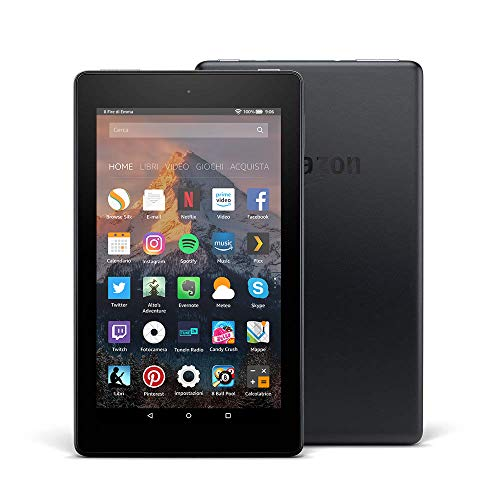 Tablet Fire 7, schermo da 7', 16 GB, (Nero) -...