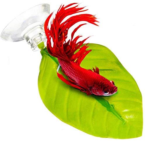 Xinllm Betta Hammock Toys Pad Plastic Aquarium Plants Aquarium Ornaments Large Artificial Fish Tank Plants Fish Tank Ornaments Medium Fish Tank Accessories 1pc,3.54inch