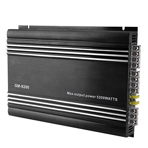 Qiilu Amplificador de potencia de audio para automóvil, 5200W...