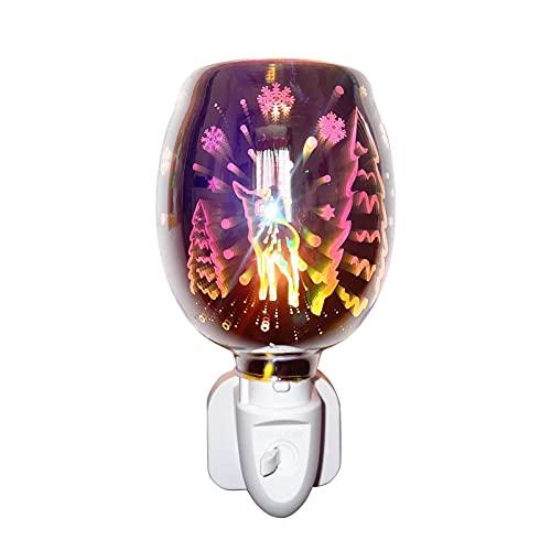 Hemisgin Fragancia Cera Melt Luz 3D Aromaterapia 3D Plugin Dimmible Difusor Difusor de Cera Scentsy Electric Incluye Bombillas para Parejas Citas Fiestas Salones Dormitorio