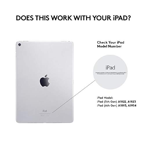 Logitech Slim Folio Custodia per iPad con Tastiera Wireless Bluetooth, iPad 5a/6a Generazione (A1893, A1954, A1822, A1823), 14 Tasti Scelta Rapida iOS, Batteria 4 Anni, Layout Inglese QWERTY, Nero
