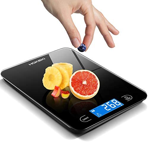 Food Scale HOKEKI Digital Kitchen Scale Electronic Scale Weight Grams and Ounces with LCD Display product image