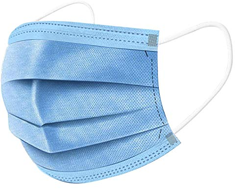 EasyEast Face Mask 3-Layer Design Pack of 25, Disposal Breathable Face Cover, Elastic Ear loop