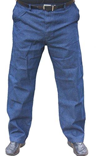 Falcon Bay The Senior Shop Men's Full Elastic Waist Denim Jeans 42/32