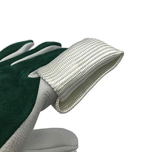 YRFDM Hochtemperaturbeständige Glasfaser-Finger-Hülsen-Schweißer Arbeit Cut-Proof Handschuhe Ofenhandschuhe Schutzausrüstung