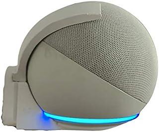 Suporte Base Splin de Parede para Echo Dot 4 Amazon modelo Backpack com Parafusos (branco)