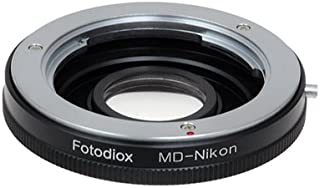 Fotodiox Lens Mount Adapter - Minolta MD, MC Rokkor Lens to Nikon Camera, for Nikon D1, D1H, D1X, D2H, D2X, D2Hs, D2Xs, D3, D3X, D3s, D4, D100, D200, D300, D300S, D700, D800, D800E, D40, D50, D60, D70, D70S, D80, D40X, D90, D3000, D3100, D3200, D5000, D5100, D7000, Fuji S1, S2, S3, S5