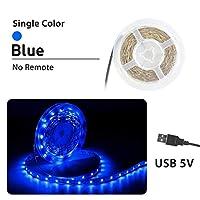 プレミアム ベッドルーム用LEDストリップライト、LEDストリップライトリモートミニ3Key 24KeyフレキシブルLEDストリップライト付き プロフェッショナル&アップグレード済み (Color : Bule, Size : 0.5m)
