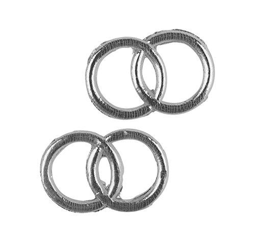 Rayher 3119622 Wachsmotiv: Eheringe, 2,5 cm ø SB-Btl. 2 Paar, silber