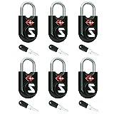 SURE LOCK TSA Compatible Travel Luggage Locks, Alloy Body with Steel Shackle, Keyed Lock