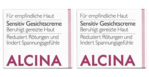 2er S Sensitive Gesichtscreme pflegende Kosmetik Alcina beruhigt gereizte Haut je 50 ml = 100 ml