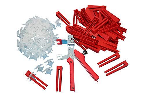 401-tlg. KABOUFIX Fliesen Nivelliersystem Set Verlegehilfe 300 Laschen 100 Keile Metallzange