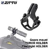 szkn Fahrrad-Taschenlampenhalter Tachometer Verlängerung Halterung Nummernschildhalterung Motion Kamera Halter One Taschenlampenhalterung