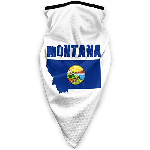 brandless Map of Montana Outdoor Face Mouth Mask Windproof Sports Mask Ski Mask Shield Scarf Bandana for Unisex