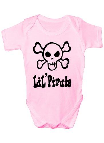 Lil 'Pirate Tête de mort et tibias Cadeau humoristique Body bébé fille/garçon Gilet - Rose -