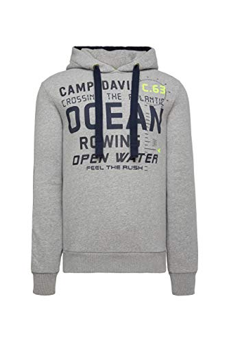 Camp David Herren Kapuzensweatshirt mit Logo-Applikationen