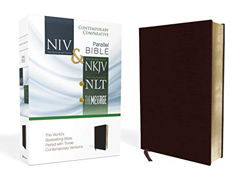 Compare Textbook Prices for NIV, NKJV, NLT, The Message, Contemporary Comparative Parallel Bible, Bonded Leather, Burgundy: The World's Bestselling Bible Paired with Three Contemporary Versions Special Edition ISBN 0025986436933 by Zondervan