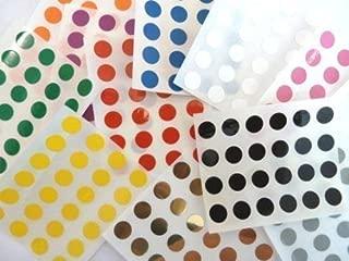 Minilabel 456 Labels , 9mm Diameter Round , Durable Plastic / Vinyl , Mixed Colour Code Stickers