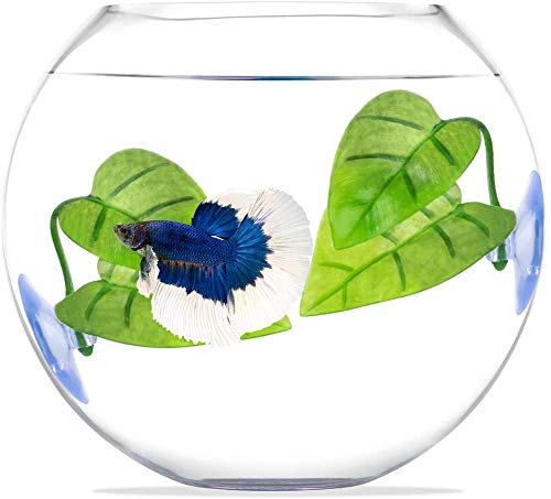 6 Pieces Betta Bed Leaf Hammock for Betta Fish, Lightweight and Realistic Resting Spot, No BPA, Practical, Comfortable and Safe( Double Leaf Design, one Leaves )