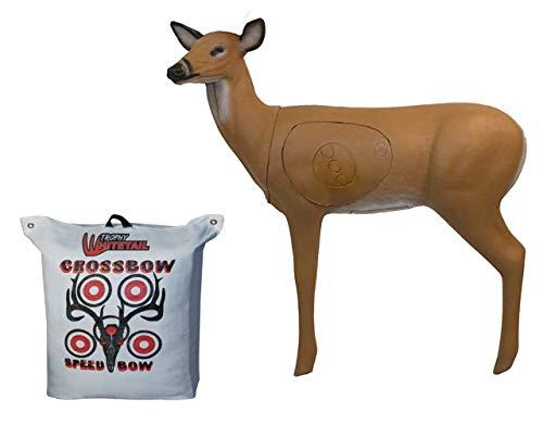 BIGSHOT Real Wild 3D Doe Deer and Trophy Whitetail Bag Archery Target Backyard Combo