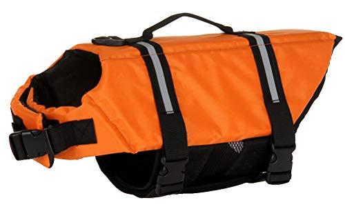 ChezAbbey Dog Life Jacket Adjustable Dog Lifesaver Preserver Swimsuit Dog Life Vest for Swimming and...