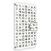 スマホケース 手帳型 カードタイプ Galaxy Note9 (SC-01L・SCV40) 対応 [古代文字風・ホワイト] サイン記号 エンシェント SAMSUNG サムスン ギャラクシー ノートナイン docomo au スマホカバー 携帯ケース スタンド [FFANY] ancient aao_210111c