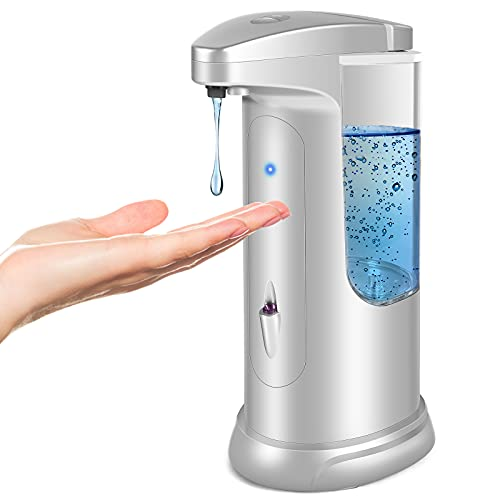 Countertop Automatic Soap Dispenser, Touchless Infrared Motion Sensor Soap Dispenser Match Upgraded Waterproof Base, Suitable for Bathroom Hotel...