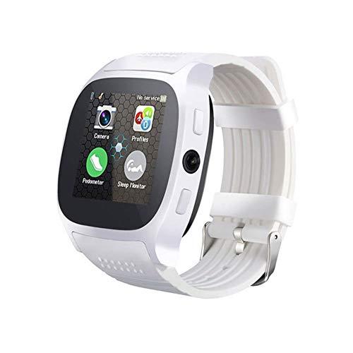 KID LOVE Cámara T8 Bluetooth Inteligente Reloj con,Soporte De Tarjeta SIM TF Podómetro Hombres Mujeres Llamadas Deporte SmartWatch para El Teléfono Android PK Q18 DZ09-b