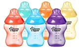Tommee Tippee Closer to Nature - Biberón anticólico, 260 ml (pack de 6 unidad multicolor),42256610