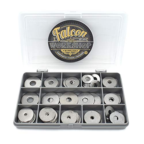 75 Assorted Piece, A2 Stainless Steel Penny Repair WASHERS M4 M5 M6 M8 M10...