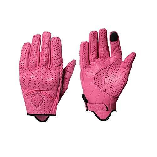 Bruce Dillon Guanti moto donna in pelle perforati rosa Suv Bike Guanti moto fuoristrada Guanti moto donna perforati rosa perforati M