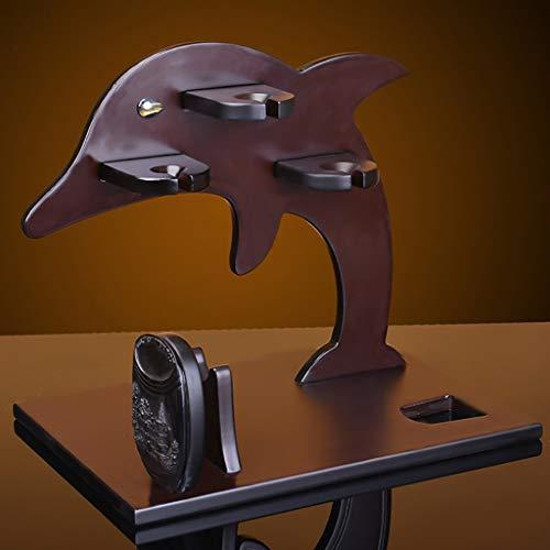 Estante para Vino Europeo de Madera Maciza Dolphin Home - 40 * 30 * 38 cm - Estante para Copas Estante para Copas de Vino Adornos para Barra, B-S