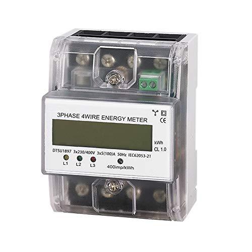 Conpush Medidor de potencia eléctrico digital de consumo de energía de 230...