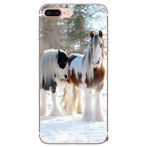 XMCJ. Black Horse for Samsung Galaxy S2 S3 S4 S5 S6 S7 S8 S9 Plus-Note 2 3 4 5 8 Transparent Soft Shell Covers (Color : Images 10, Material : for Galaxy S9)