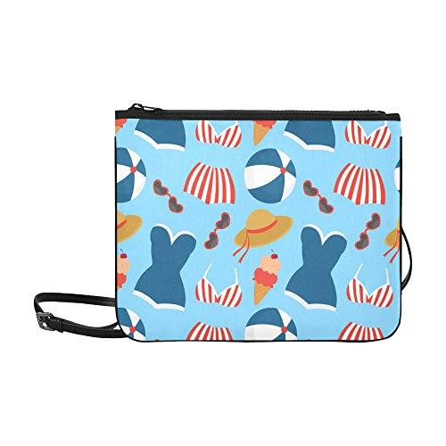 Fashion Classic Bag Schöne Sexy Siamese Badeanzug Strand Verstellbarer Schultergurt Mode Reißverschlusstasche Für Frauen Mädchen Damen Mode Clutch Bag Umhängetasche Für Teen Girls