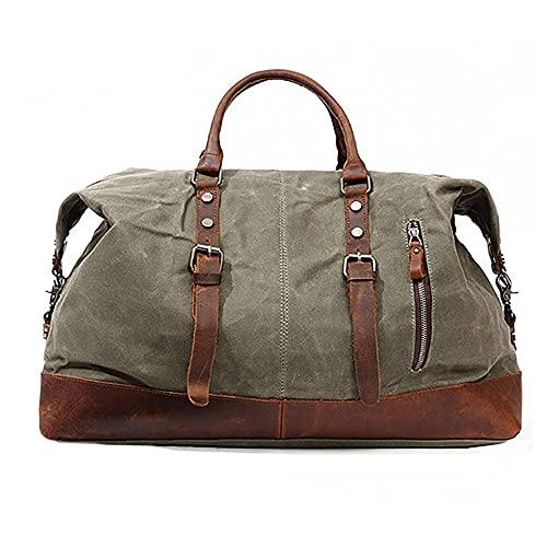 QIOQIO Leinwand-Reisetasche, wasserdichte und verschleißfeste große multifunktionale Gepäckaufbewahrungstasche mit großer Kapazität, geeignet für Männer und Frauen...