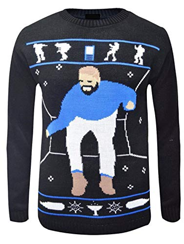 REAL Life FASHION LTD. unisex Drake Heup Hotline Bling Kerst Jumper dames heren leuk lelijke trui Top