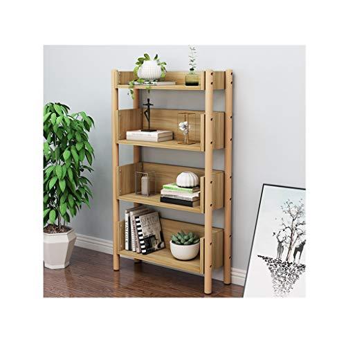 Estantería de pie Pequeño estante de estante de madera Pastel de estante de almacenamiento multiusos Estantería de exhibición de estantería de madera abierta de madera para el hogar y la oficina Estan