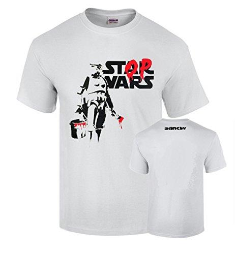 Camiseta Banksy Stop War Stars Wars Graffiti Urban Art Algodon Calidad 190grs Premium (M)