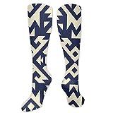 Regalo de Navidad calcetín Tribal Navajo Vector Patrón Sin Costuras. Azteca Fantasía Abstracto Geométrica Tamaño 50cm