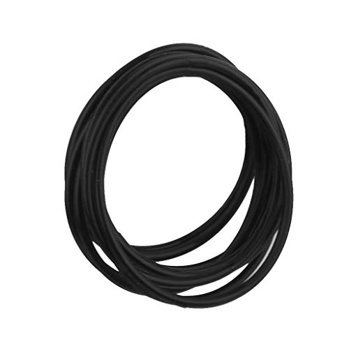 20 unids Elástico de silicona cuerdas cuerdas pulseras pulsera ropa arnés anillos de pelo accesorios CHAOCHAO (Color : Black)