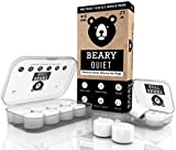 Ear Plugs for Sleeping by Beary Quiet - 6 Pairs - Custom Fit Reusable Soft Silicone Earplugs - The Best Ear...