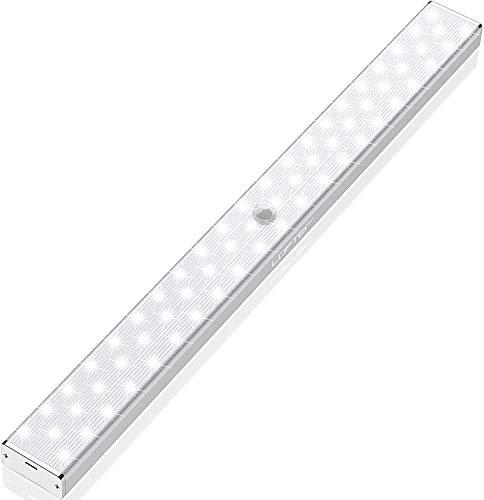 LOFTer Luce Wireless Migliorato a 62 LED con 2 Geniali Sistemi di Rilevamento, Luce per Armadio/Luce Sottopensile con 2 Modalità di Installazione, Ricaricabile come Cell, Luce Bianca