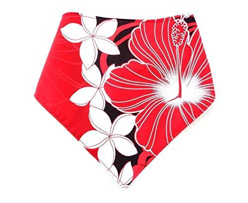 ALOHA Large Reversible Christmas Red Hawaiian Dog Bandana Neckwear Petwear Scarf Human Headband