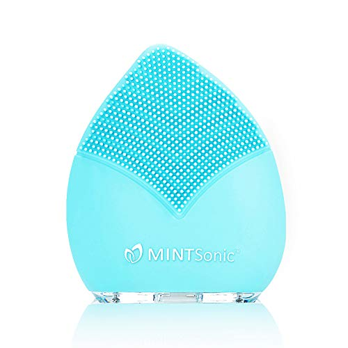 Ultimate Sonic Facial Cleansing Brush - Silicone Face Brush & Massager - Exfoliate Smooth Skin for a Radiant Clear Complexion by Mint Sonic