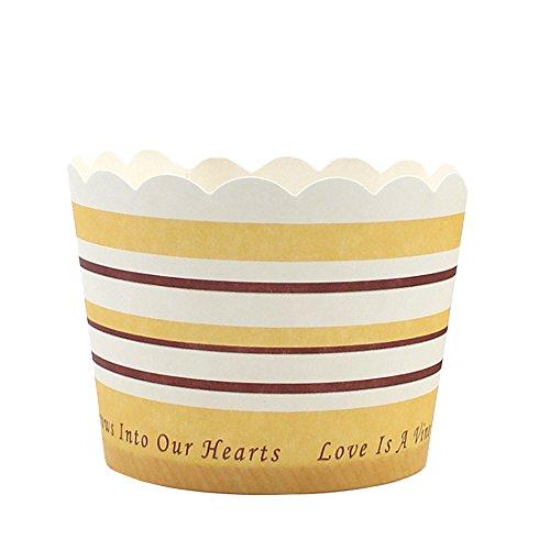 Beiersi Caissettes Cupcake Papier Muffin,Moule en Papier pour Muffins,Caissette Muffins 24 pcs