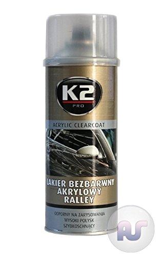 K2Pro Ralley/Rally Spray de 400 ml de secado rápido acrílico profesional para la capa superior de los vehículos