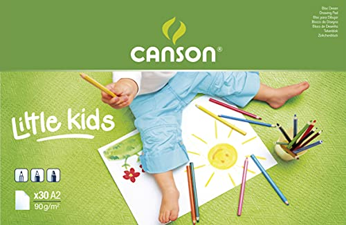 Bloc Encolado, A2, 30 Hojas, Canson Kids Dibujo 90g